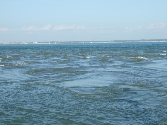 courant de l'eau de l'estuaire et l'océan